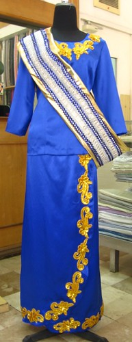 Maranao costume | for fan dancers. Blouse & skirt are made ...