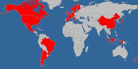 Visited countries map syrup1934 says places i have lived flickr visited countries map by syrup1934 visited countries map by syrup1934 gumiabroncs Image collections