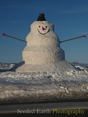 Giant Snowman after the Sun Comes Out | by bo mackison