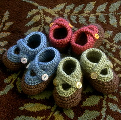double strap baby booties | by xsylver