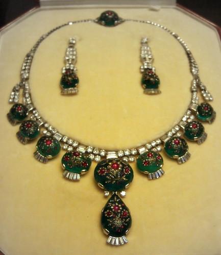 Ruby Diamond Earrings White Gold