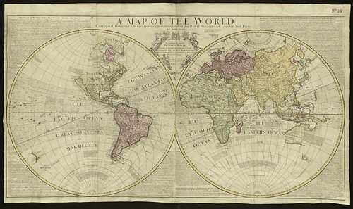 A map of the world | by Norman B. Leventhal Map Center at the BPL