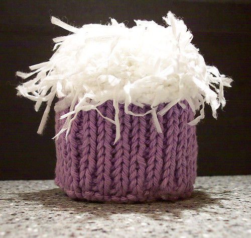 Coconut knitted cupcake | by onetomatotwo