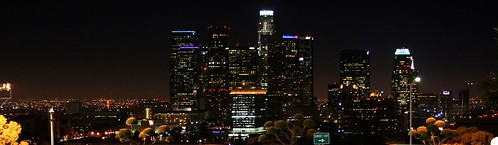 Los Angeles Skyline Dodger Stadium Sept 19 2008 | by jondoeforty1