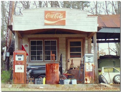 Vintage Service Station Memorabilia Delightful