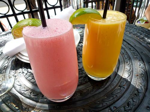 Strawberry and Mango Lassi
