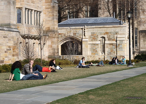 Yale students enjoying the spring | by ragesoss