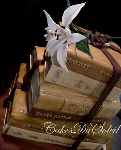 Vintage Books Wedding Cake | by JacqueBenson