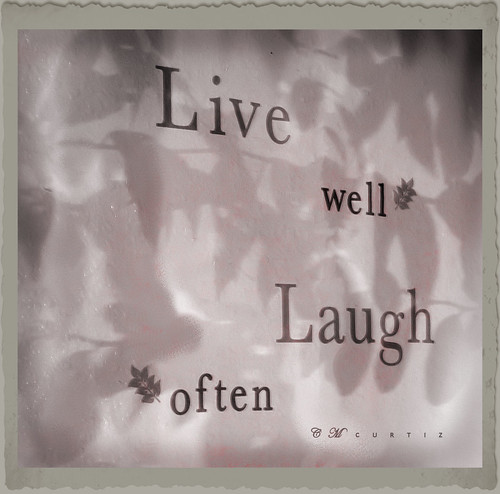 Live Well Laugh Often | by ccurtiz