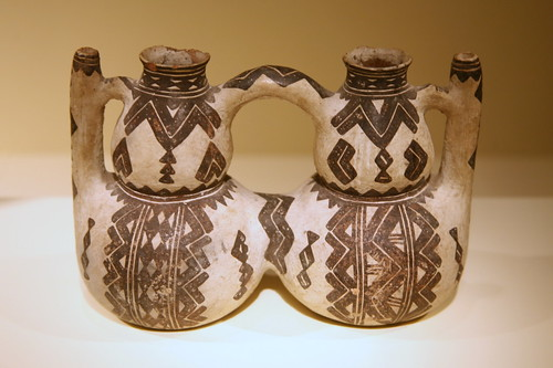 Double vessel, (thibuk'alin), Kabyle peoples, Kabylie, Algeria, 19th century, Ceramic, slip | by cliff1066™