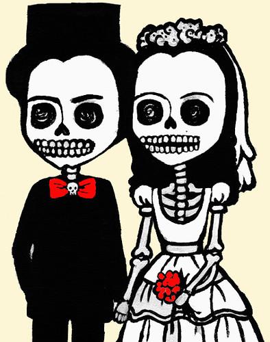 Bride and groom skeletons Modified from lunat1kanetmg2i Flickr