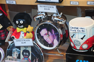 Elvis Clock, Golly Plate, VW Camper Van Mug, Shop Window, City of York | by Steve Greaves