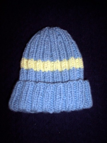 Little Boy Blue Ribbed Baby Hat | by Spinningdoula