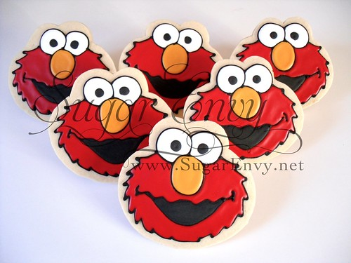 elmo cookie favor sugar envy flickr