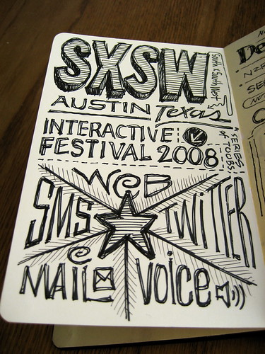 SXSWi 2008 Sketchnotes: First Page | by Mike Rohde