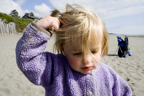 Windy, Sandy Headed Beach Baby | by clappstar