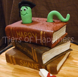 Free Cake Design Books : graduation cake top and botom book are mud cake,middle ...