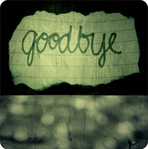 goodbye. | by Kristine May.