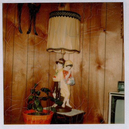 found photo, vintage lamp | by profkaren