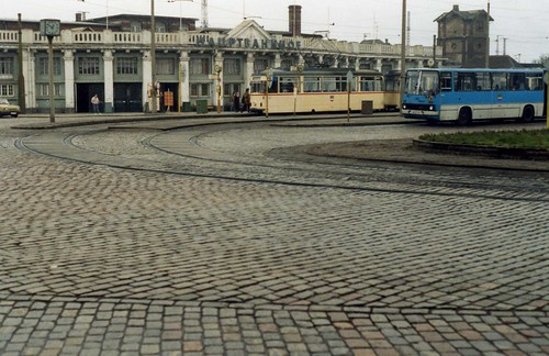 rostock hauptbahnhof gotha tram and ikarus bus jan1990 flickr. Black Bedroom Furniture Sets. Home Design Ideas