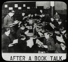 Work with schools : after a book talk, showing boys gathered... | by New York Public Library