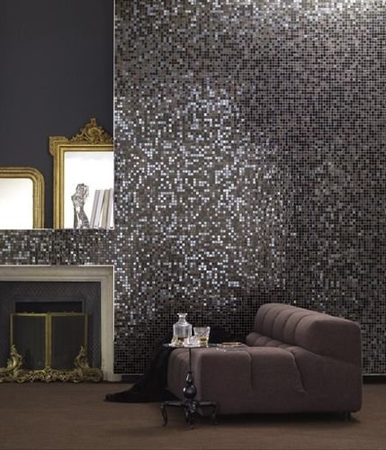 Charmant ... Living Room Wall Designed With Bisazza Mosaic Tiles | By Bisazza
