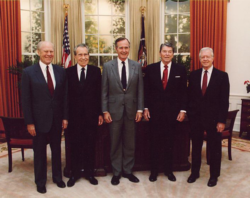 1991 Five Former Presidents Gerald Ford, Richard Nixon, George H W Bush, Ronald Reagan, & Jimmy Carter | by Beverly & Pack