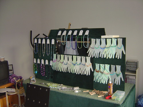 Bracelet and necklace display jessica smutek flickr for Display necklaces craft fair