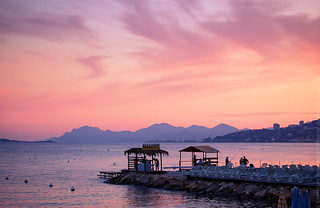 Sunset in Juan-les-Pins | by Andrey Permitin
