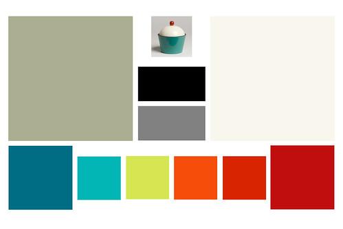 Teal Color Scheme Living Room