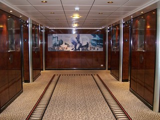 Typical Lift Area Welcome Aboard Gangway aboard the Queen Mary Two | by atlassb