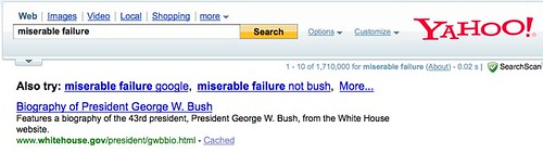 Miserable Failure @ Yahoo | by search-engine-land
