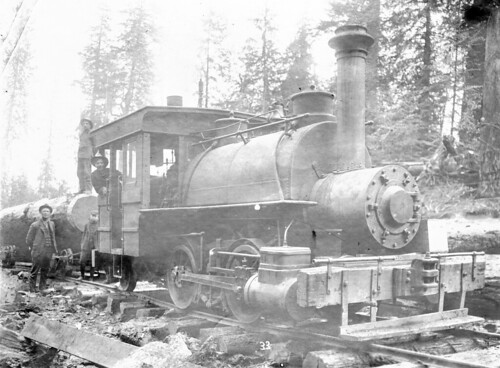 Logging railroad locomotive engine | by OSU Special Collections & Archives : Commons