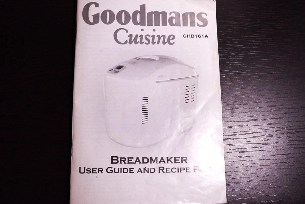 breadmaker recipe book goodmans ghb161a flickr rh flickr com