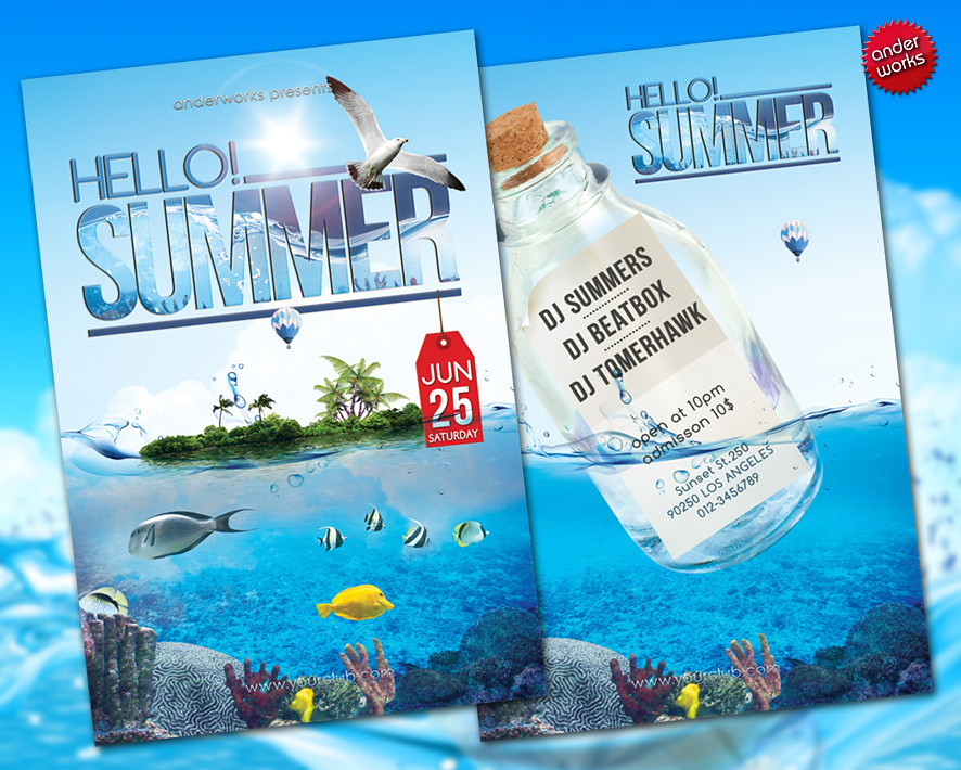 hello summer flyer template time for a refreshment the flickr