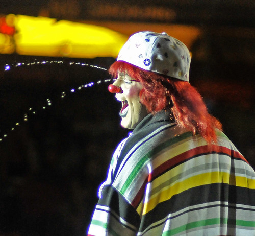 Clown Squirting Water From Eyes | by Bob Jagendorf