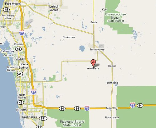 Ave Maria Florida Map.Ave Maria On The Map Here S A Screen Capture Of The Google Flickr