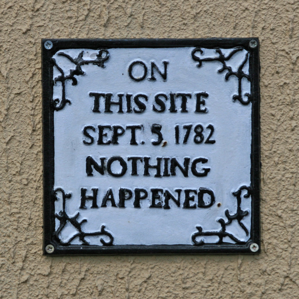 ... 1782 ON THIS SITE SEPT 5, 1782 NOTHING HAPPENED | by Leo Reynolds