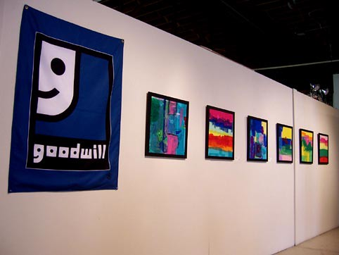 Collage wall of Goodwill Exhibit | by Sandra Lynn Gray