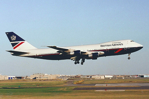 British Airways 747 136 G Awnf A Blast From The Past In