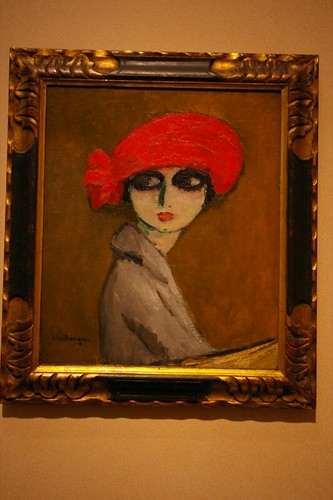 girl in a red hat painting houston museum of art this