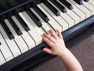 My niece playing the piano