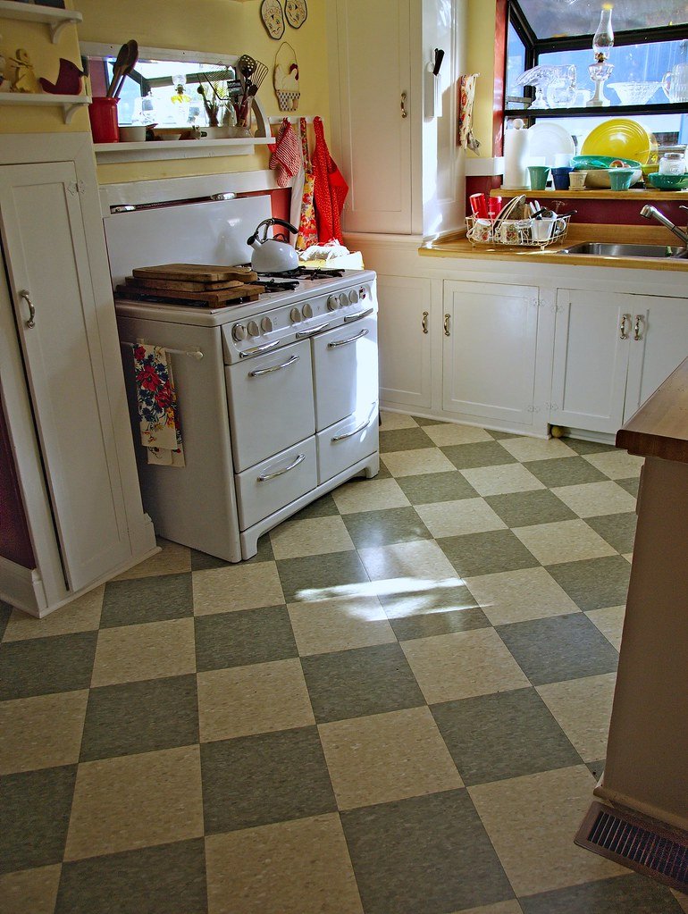 Checkered Kitchen Floor Retro Kitchen Floor Tile Winda 7 Furniture