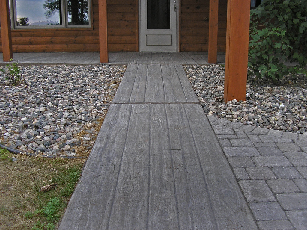 Attractive ... Faux Wood Finish On Concrete Patio | By Avalonsculpture