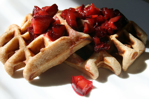 Waffles and Rosewater Plum Compote | From 101cookbooks.com ...