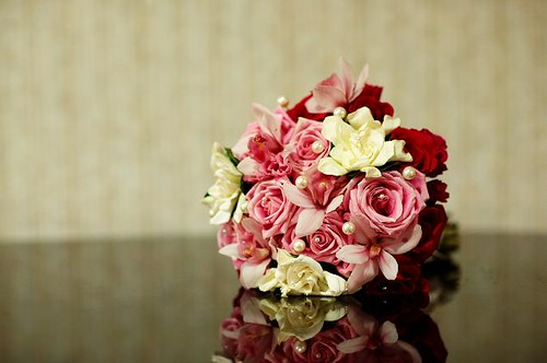 pink red and white bridal bouquet a wedding bouquet with flickr