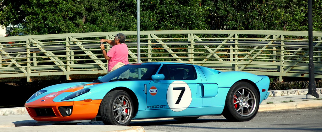 Ford Gt In Classic Gulf Racing Colors Key West Florida By Pedruca