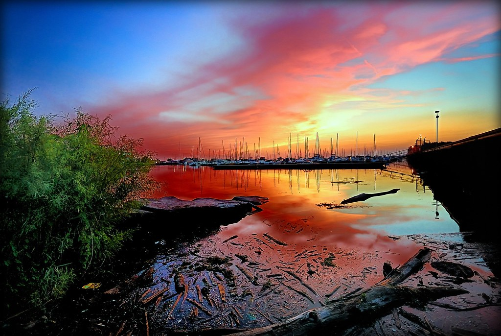 Image result for pollution sunset
