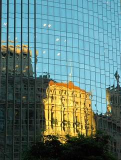 Financial District Classical Building Reflection Distortion, San Francisco, California, USA | by Wonderlane