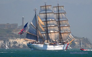 United States Coast Guard -  Barque Eagle & Alcatraz Lighthouse - San Francisco Bay | by Darvin Atkeson